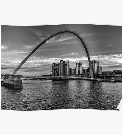 Gateshead Millenium Bridge Poster