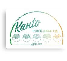 Kanto Poké Ball Company on White Metal Print
