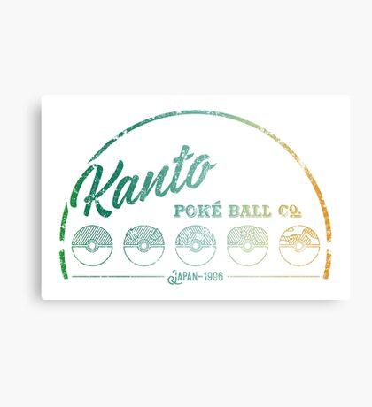 Green Kanto Poké Ball Company on White Canvas Print