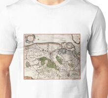 Vintage Map of Flanders Belgium (17th Century) Unisex T-Shirt
