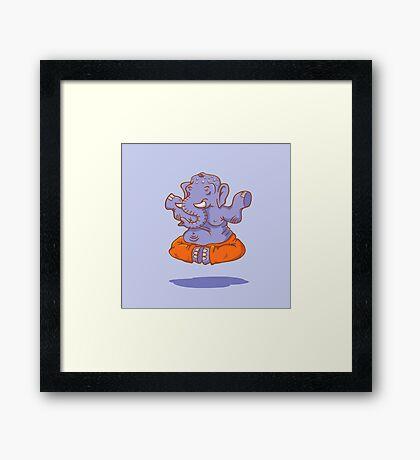Elephant yoga Framed Print