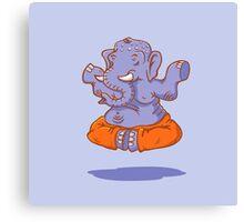 Elephant yoga Canvas Print