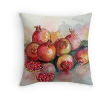 Pomegranates in Watercolour Throw Pillow