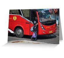 parking bus Greeting Card