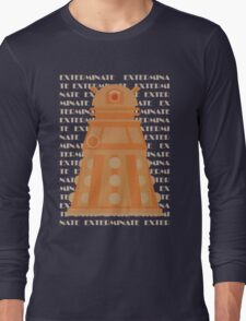 Exterminate Orange Long Sleeve T-Shirt