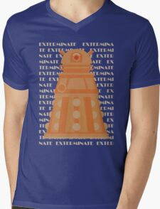 Exterminate Orange Mens V-Neck T-Shirt