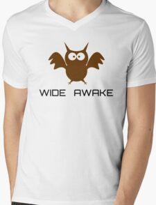 Cute Little Owl Night Life Wide Awake Katy Perry Audioslave Song Lyrics Mens V-Neck T-Shirt