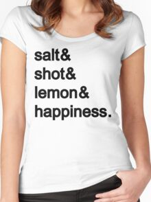 Tequila: Salt & shot & lemon & happiness Women's Fitted Scoop T-Shirt