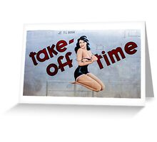 Take-Off Time Greeting Card