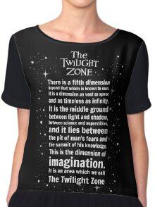 The Twilight Zone Intro Chiffon Top