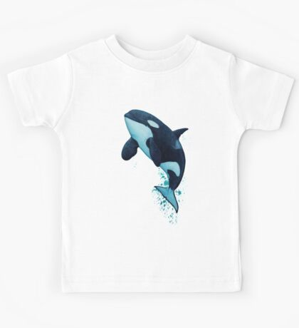 """""""The Matriarch"""" Killer Whale ~ Orca ~ J2 Granny ~ Watercolor Kids Tee"""