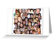 Youtuber Collage Greeting Card