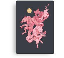 Werewolf sleepover Canvas Print