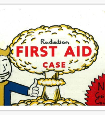 Radiation First Aid Sticker