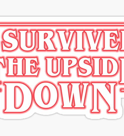 Stranger Things  - I Survived the upside down Sticker