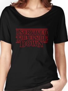Stranger Things  - I Survived the upside down Women's Relaxed Fit T-Shirt