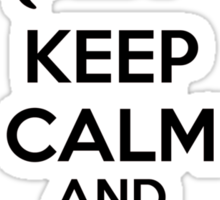 Keep calm and love cats Sticker
