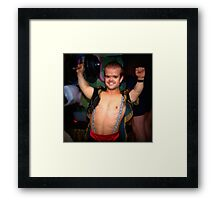 The Strong Man. Framed Print