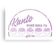 Purple Kanto Poké Ball Company on white Metal Print