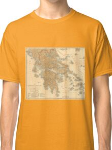 Vintage Map of Greece (1894) Classic T-Shirt