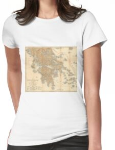 Vintage Map of Greece (1894) Womens Fitted T-Shirt