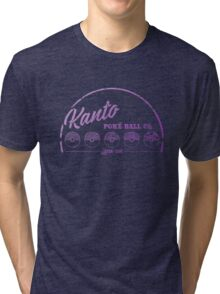 Purple Kanto Poké Ball Company Tri-blend T-Shirt