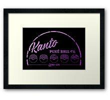 Purple Kanto Poké Ball Company Framed Print