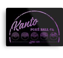 Purple Kanto Poké Ball Company Metal Print