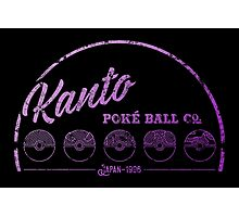 Purple Kanto Poké Ball Company Photographic Print