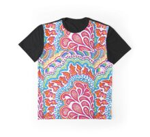 Pink Raindrop Doodle Graphic T-Shirt