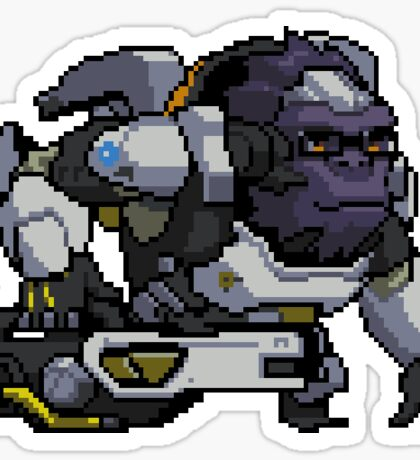Winston - Pixel Spray Sticker