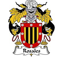 Rosales Coat of Arms/Family Crest Photographic Print