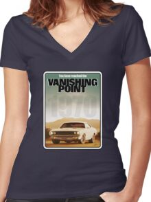 Vanishing Point Women's Fitted V-Neck T-Shirt