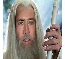 Nicolas Cage the white. Photographic Print