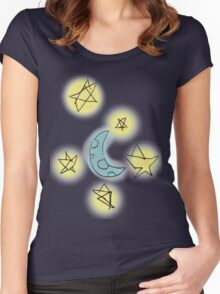 Moon+Stars Women's Fitted Scoop T-Shirt
