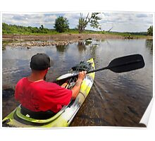 Kayaking the Salmon River Reservoir  Poster