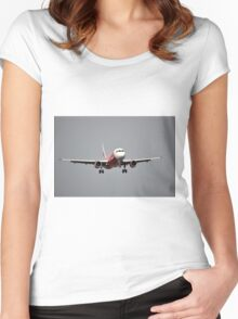 Air Asia airplane Women's Fitted Scoop T-Shirt