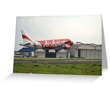 Air Asia airplane Greeting Card