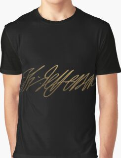 Thomas Jefferson Gold Signature Graphic T-Shirt