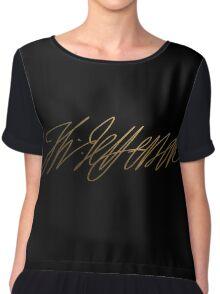Thomas Jefferson Gold Signature Chiffon Top