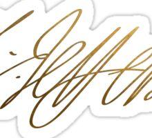 Thomas Jefferson Gold Signature Sticker