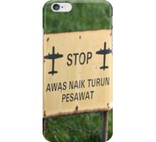 airport sign iPhone Case/Skin