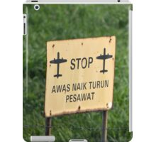 airport sign iPad Case/Skin