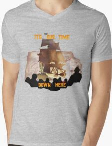 ITS OUR TIME DOWN HERE! Mens V-Neck T-Shirt