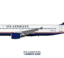 Illustration of US Airways Airbus A320 by © Steve H Clark