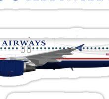 Illustration of US Airways Airbus A320 Sticker
