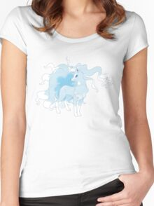 Alola Ninetales T Shirt Women's Fitted Scoop T-Shirt