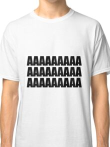 White - Black Repeat Letter A Classic T-Shirt