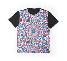 Colorful Vortex Doodle Graphic T-Shirt