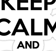 Keep calm and grill on Sticker